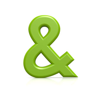 Green Ampersand Symbol